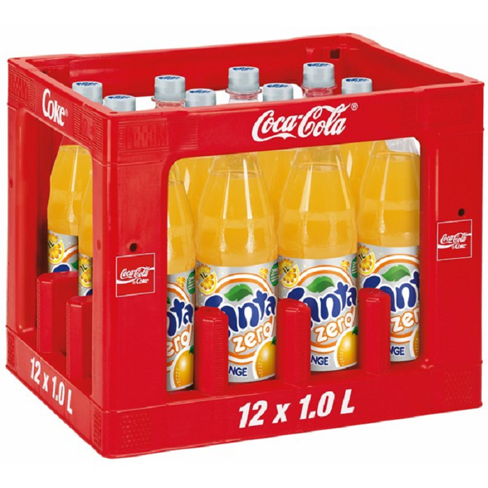 Fanta Zero Orange 12x1 Liter (PET) KISTE Getränke Lieferdienst Hamburg