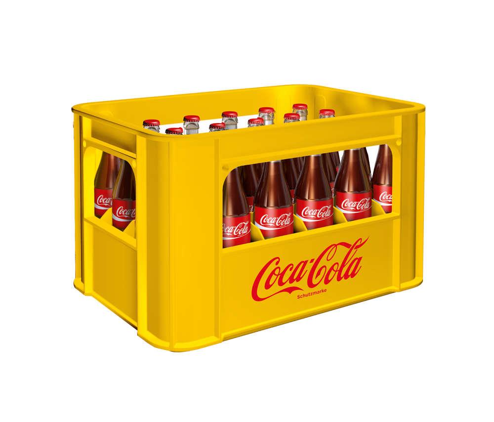 Coca Cola Classic 24x0,33 Liter (Glas) KISTE Getränke Lieferdienst ...